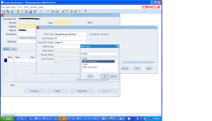 How to create Dependent but text free Value set in Oracle